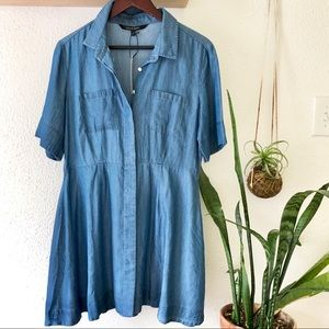 Walter Baker chambray shirt dress